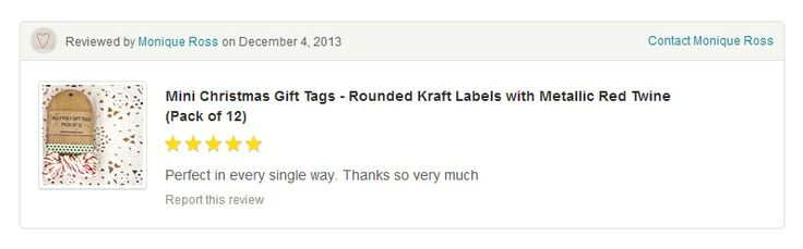 Thank you for your lovely words! #gloriousmess #christmas #gift #tags #presents #green #stars #red #twine #metallic #happycustomer