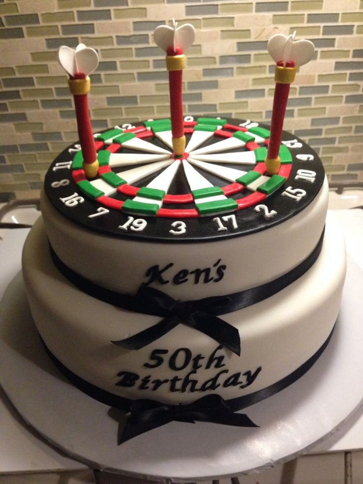 13 Best Dartboard Birthday Cakes Images On Pinterest