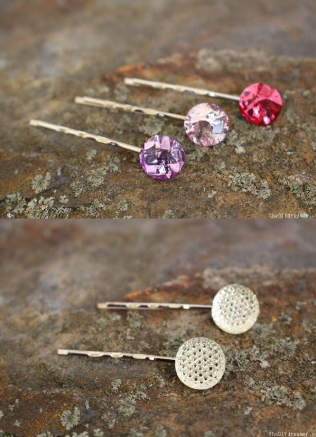 Handmade Gift #24-Jeweled Bobby Pins via DIY Dreamer at AnOregonCottage.com