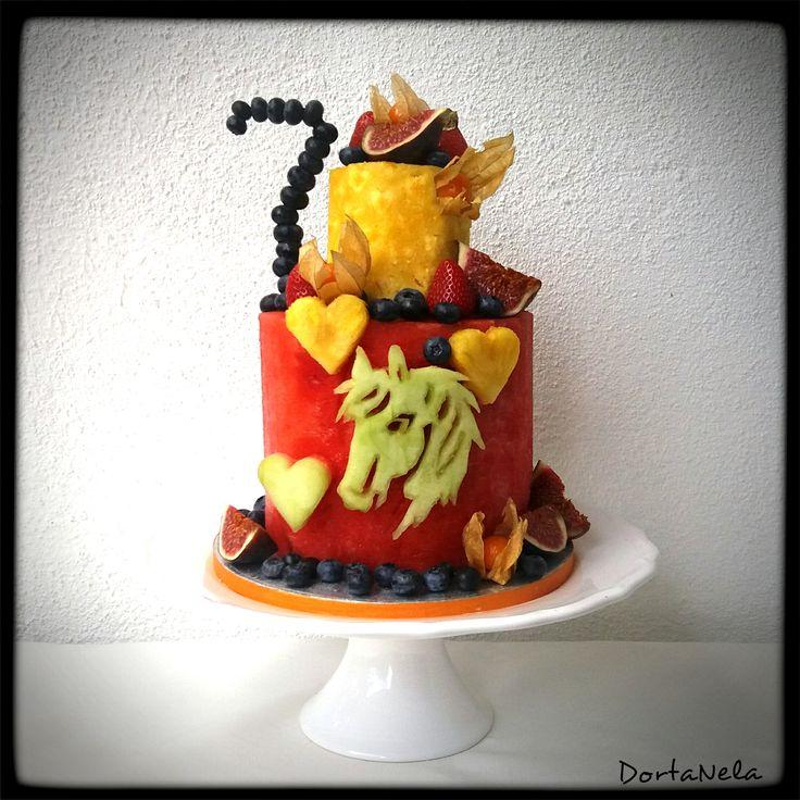FRUIT CAKE WITH HORSE (Dort z ovoce s koněm)