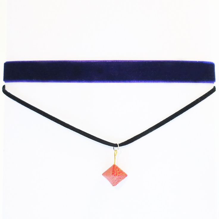 Origami Geo Thick Choker Necklace