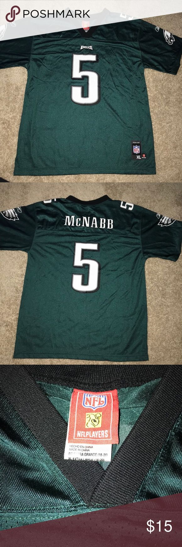 Eagles mcnabb jersey youth XL Eagles mcnabb youth xl Jersey . Never worn nfl Shirts & Tops
