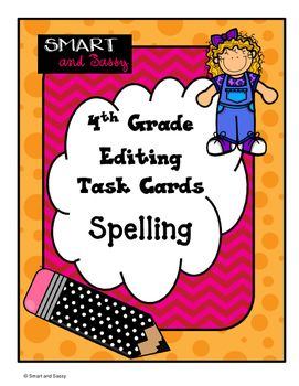 Students will love test practice! Use these task cards in workstations or independent practice for 4th grade spelling TEKS: - Plural Rules - Irregular Plurals - Double Consonants - Other ways to spell 'sh' - silent letters - affixes - homophones Integrate technology for