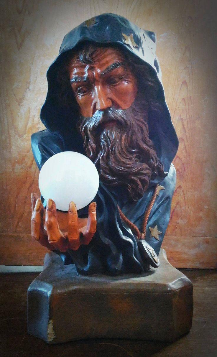 Vintage Wizard huge lamp goth gothic circus oddities sideshow freak weird curio magician antique di studyartantique su Etsy