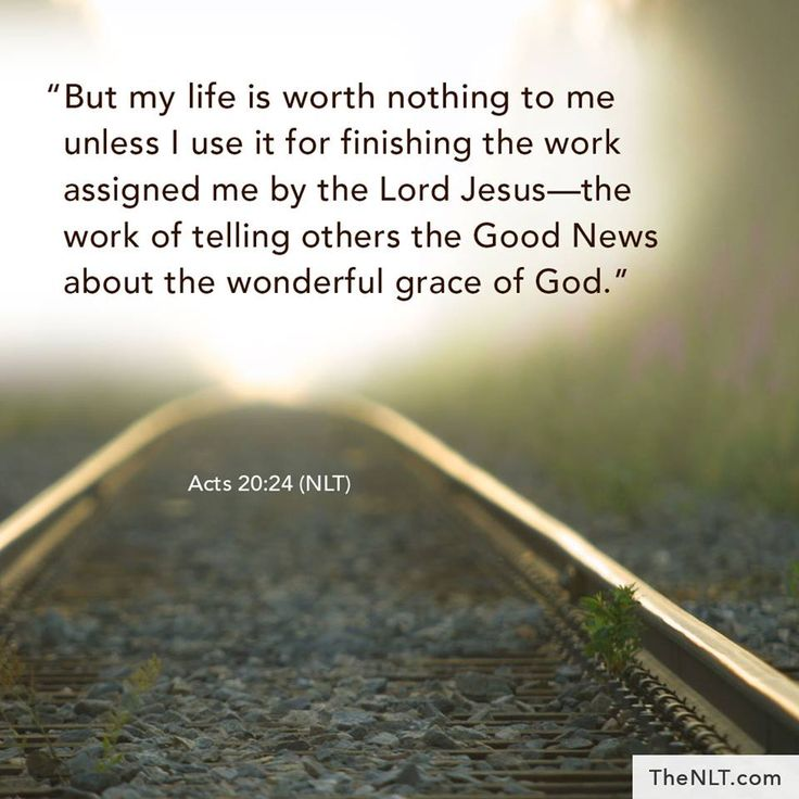 Acts 20:24 (NLT)