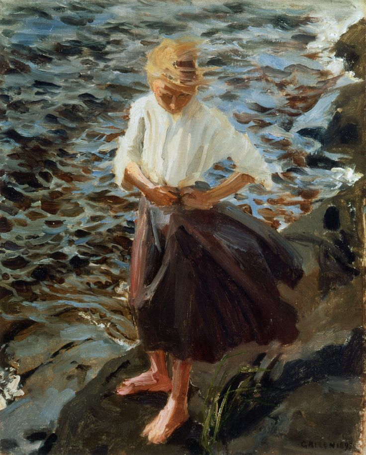 The Athenaeum - Windswept Girl (Akseli Gallen-Kallela - )