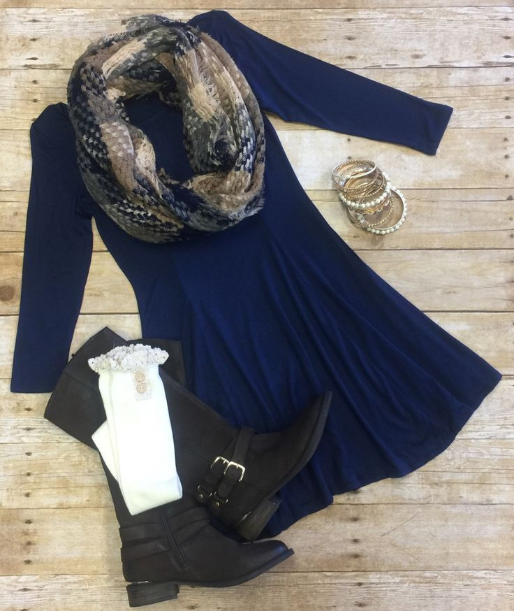 We Both Know Tunic Dress: Blue from privityboutique