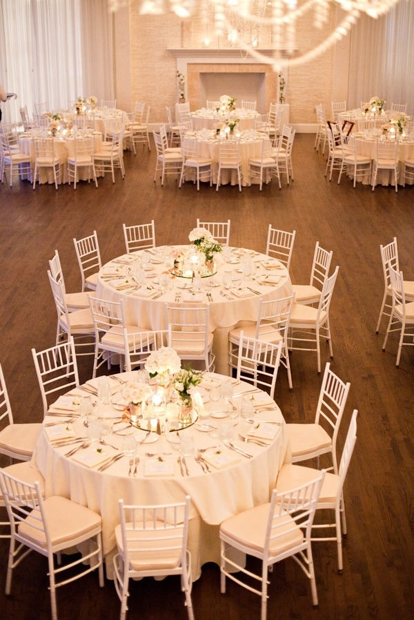 17 best ideas about white wedding linens on pinterest for Wedding reception table linen ideas