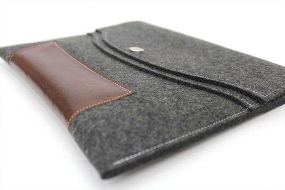 iPad Mini Leather Case iPad Mini Wool Sleeve by WillowandCompany, $45.00