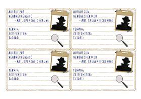 Für alle Mamas, die demnächst Einladungskarten für Detektiv-Partys brauchen stelle ich heute meine Entwürfe der Einladungen vom Dezember als...