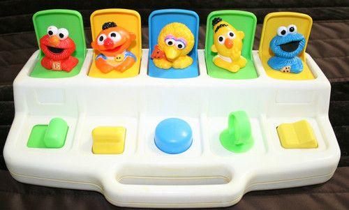 Playskool Busy Poppin Pals 1992 PLAYSKOOL Sesame ...