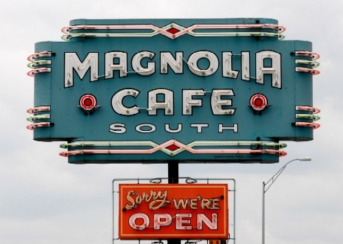 "Magnolia Cafe-Took CLugar here...said, ""I only eat at places that there are at least two of in existence."" Luckily there are exactly two Magnolia Cafes in Austin. Visit: http://themagnoliacafe.com/ You MUST have Migas. (If you don't know, it's time you learn.)"