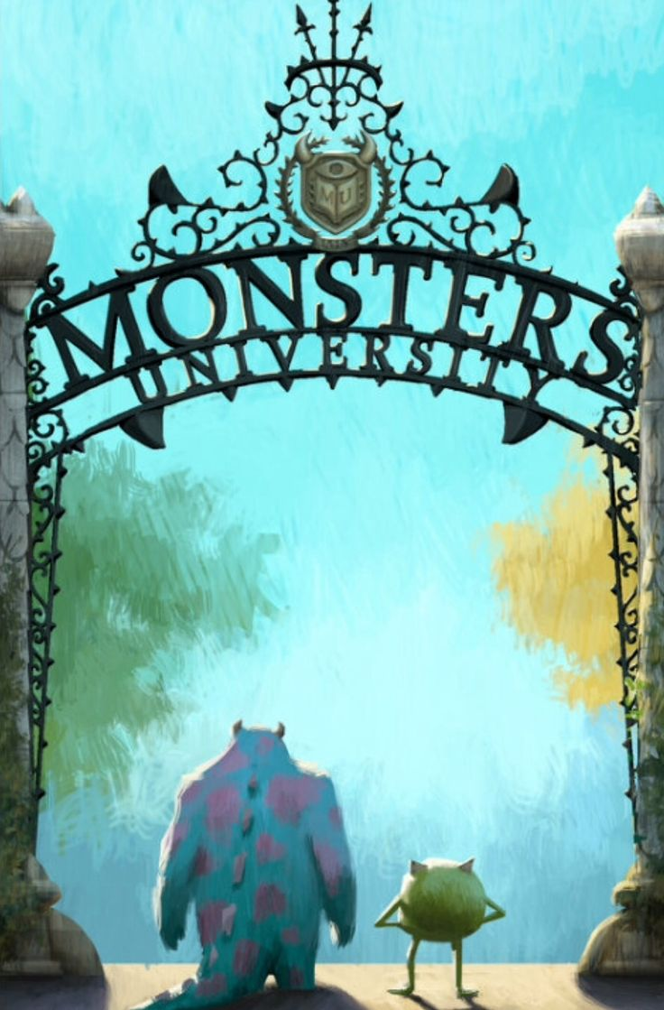 Wallpaper iphone monster university - Monsters University Cute Art Phone Backgroundsiphone Wallpapersmonster