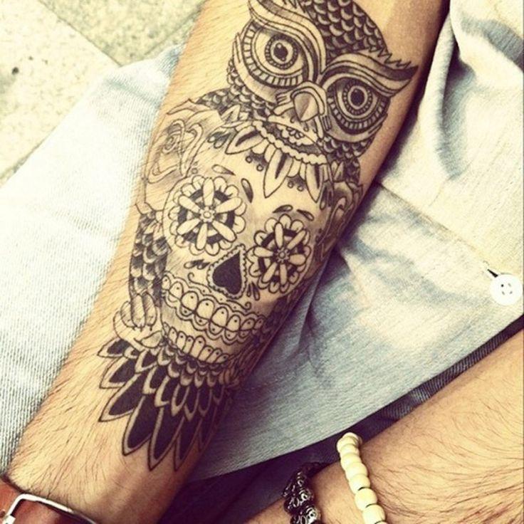 Owl Skull Tattoo Idea Picture in Tattoo Ideas
