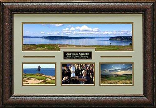 Jordan Spieth US Open Chambers Bay Panoramic Trophy Photo Collage Display * See this great product. (Note:Amazon affiliate link)