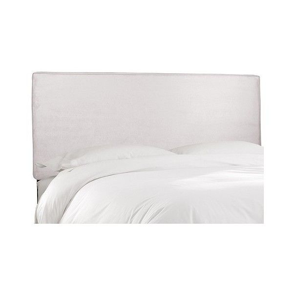 Austin Tufted Headboard (1.495 DKK) ❤ liked on Polyvore featuring home, furniture, beds, premier white, white bed, tufted upholstered bed, white upholstered headboard, skyline headboards and white tufted headboard