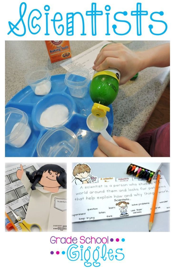 """Have your kids ever asked """"What is a scientist?"""" Maybe they've wondered about what scientists do. Check out this unit that introduces kids to science by exploring what makes someone a scientist. You'll find reading passages, a mini-book, a craftivity, science experiments,  stationary, graphic organizers, and more! You'll have more than enough to fill your lesson plans."""