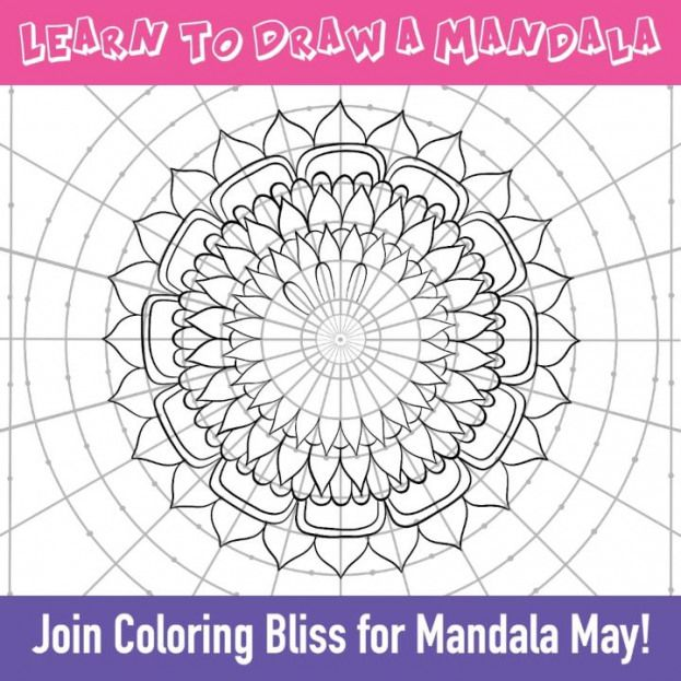 At Coloring Bliss We Celebrate Mandala May With Artist Jennifer Stay Who Has Created Some Fun An Mandala Malen Anleitung Mandala Malen Lernen Mandalas Zeichnen