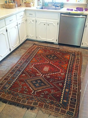 Turkish rug - not very practical in a kitchen but the look's great.