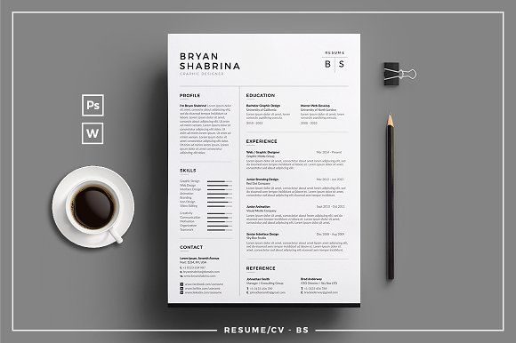 Resume/CV - BS by tnsdesign on @Graphicsauthor