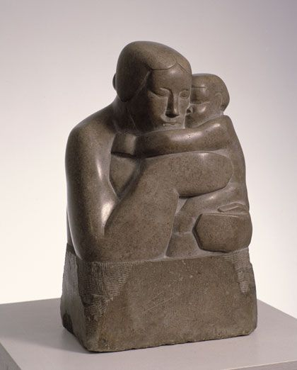 Mother and Child Sculpture by Artist Barbara Hepworth , Artist Study for CAPI ::: Create Art Portfolio Ideas @ milliande.com, Art School Portfolio Work