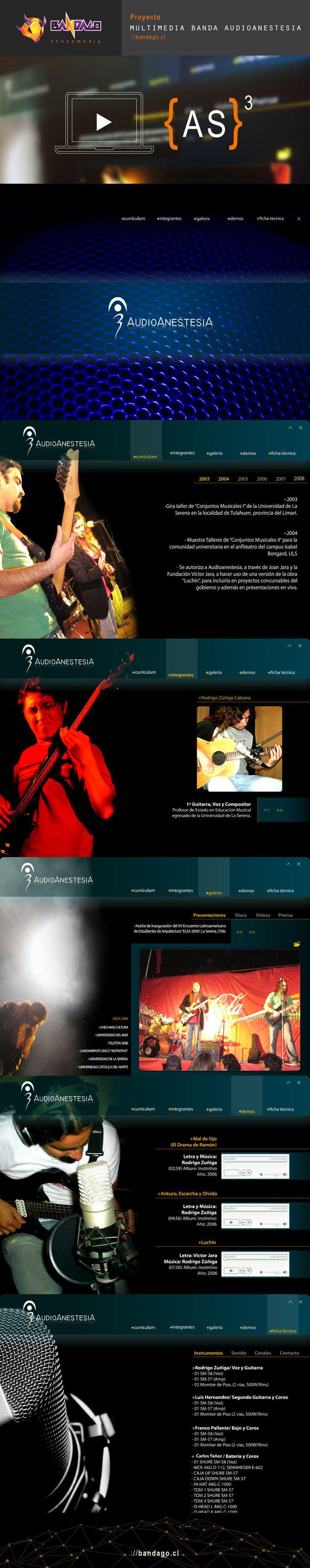 #multimedia #flash #bio #diseño #laserena #audioanestesia #bandago. Más info: http://bandago.cl/lens_portfolio/multimedia-audioanestesia/