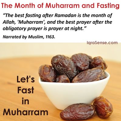 Let's fast in muharram - ashura and the previous or next day
