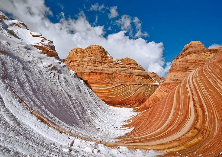 The Wave, Coyote Buttes, in the Paria Canyon-Vermilion Cliffs Wilderness, Utah