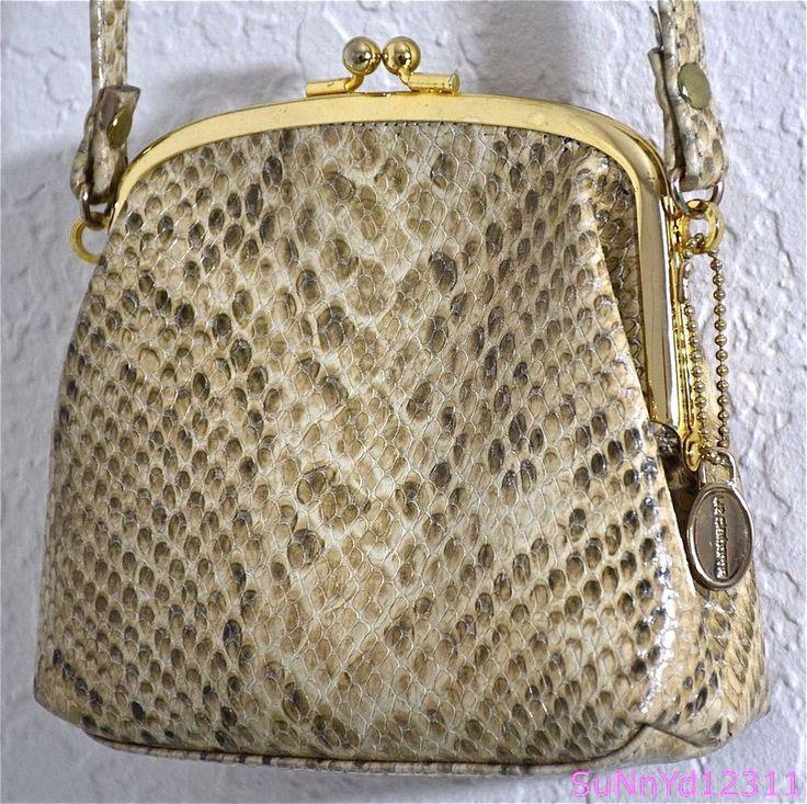 Liz Claiborne Handbag Snakeskin Shoulder Faux Python Cross