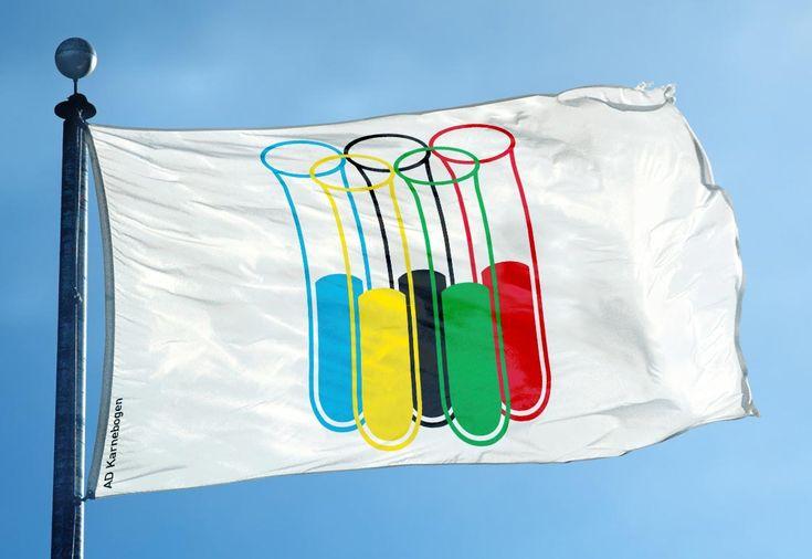 Kölner Artdirektor Björn Karnebogen gestaltete ein neues Olympia-Logo in Hinblick auf Doping-Games