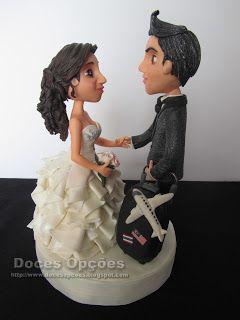 Doces Opções: Topo para bolo de casamento