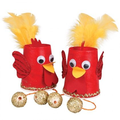 Paper Cup Rooster - Chinese New Year is an important Chinese festival which welcomes the new lunisolar year. Get crafty and create a Paper Cup Rooster to celebrate!
