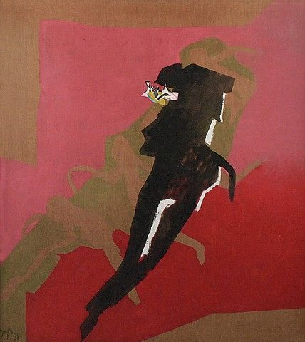 Teresa PĄGOWSKA (1929-2007)  Negro Spirituals, 1988 olej, płótno; 150 x 136 cm;