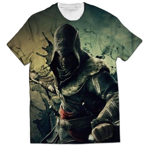 EZIO AUDITORE ALL OVER PRINTED T-SHIRT Visit: http://www.thewarehouse.pk/ezio-auditore-all-over-printed-t-shirt-14517