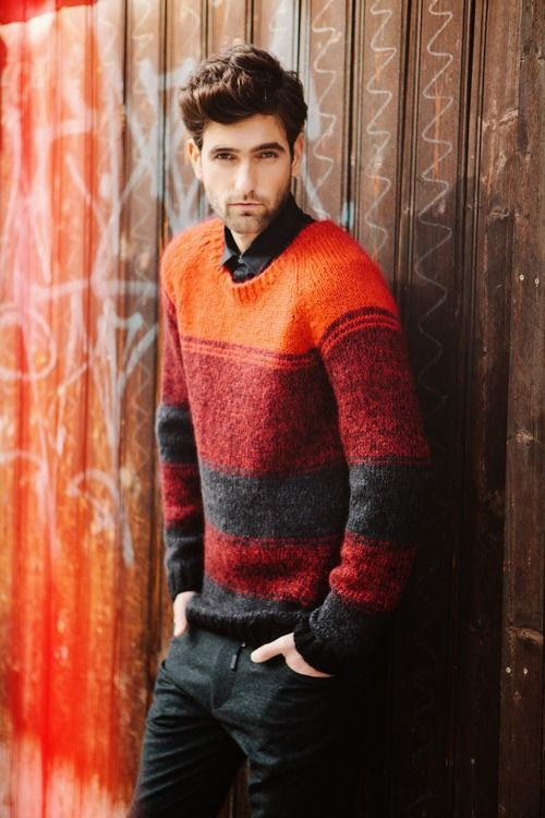 Theo Dorant by julie brass. I could see something like this for Lucas, but with orange at the bottom, maybe two shades of grey.