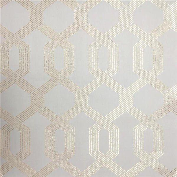 York Wallcoverings Geo Trellis Wallpaper Lowe S Canada Mid Century Wallpaper Wallpaper Roll Trellis Wallpaper