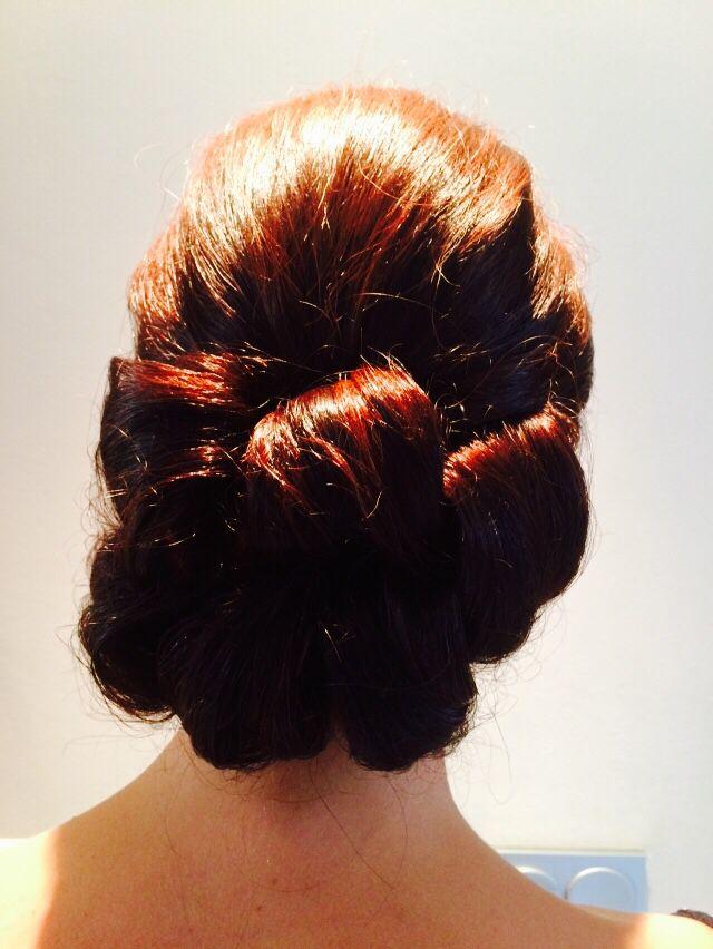 Vintage barrel curls. Very popular this summer.