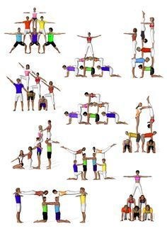 best 59 2 person yoga poses images on pinterest