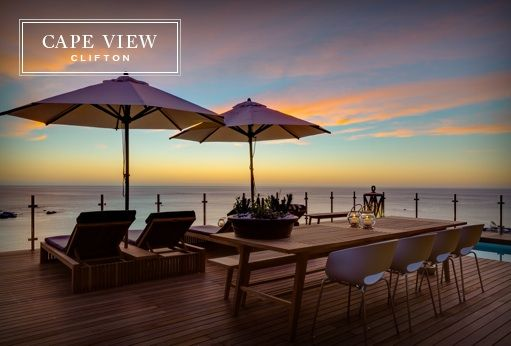 Luxury guest house or boutique hotel with uninterrupted views of the Ocean, Clifton and Camps Bay. Accommodation from two bedroom suites to luxury villa.  http://www.capeviewclifton.co.za/