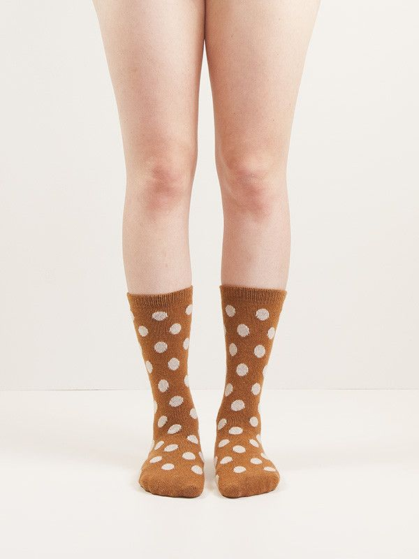 Women's Wool + Cashmere Trouser Classic Dot Socks