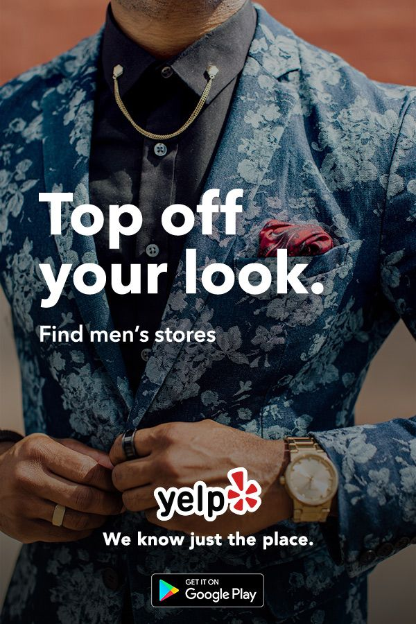 Looking for the right accessories? Need help finding cufflinks? Whatever your needs, Yelp has tons of great local reviews from millions of users. Get the App and start