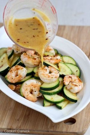Shrimp & Zucchini Stir-Fry Recipe with Miso Lime Sauce by MissSweetC