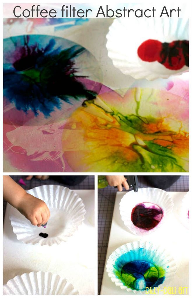 Coffee filter abstract art tutorial