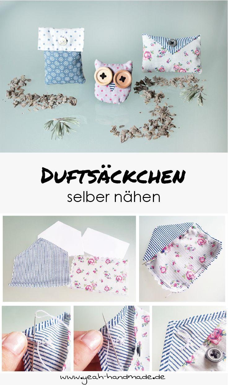 Trend DIY Dufts ckchen in verschiedenen Formen selber n hen und mit Lavendel f llen f r den Kleiderschrank oder