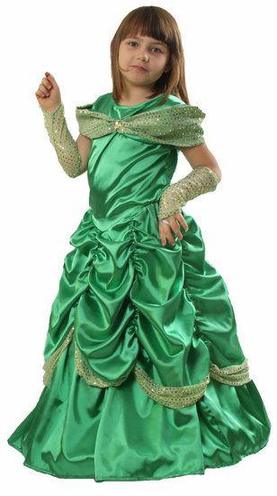 groene prinsessenjurk kinderen prinses prinsessenjurk