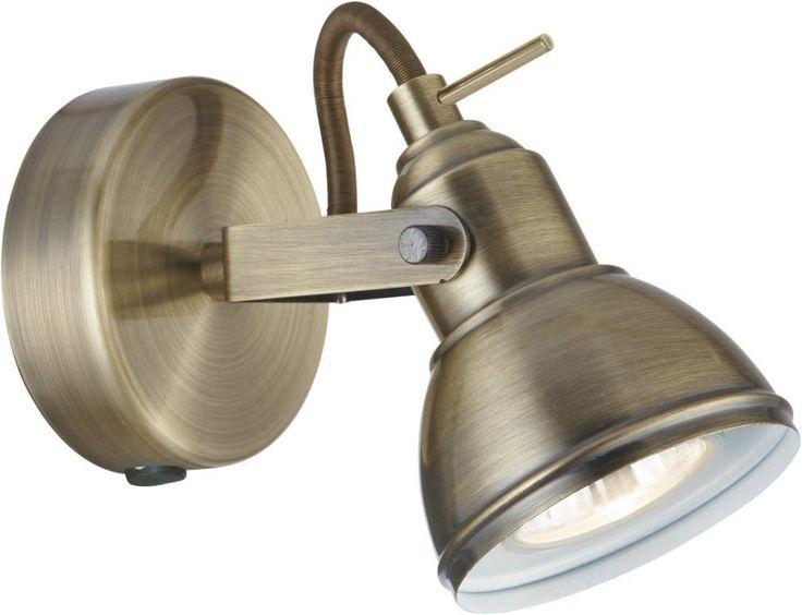 Wandspot focus 1lt antique brass industrial spotlight - Searchlight - Searchlight