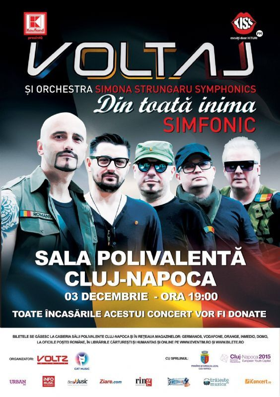Joi, 3 Decembrie 2015, ora 19:00, Sala Polivalenta, Cluj Napoca