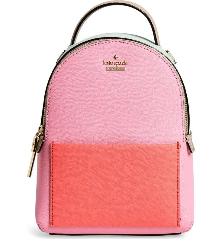 Upgraded in fun pops of color, this structured, smaller-scale backpack corrals your essentials without weighing you down, and can be converted to a chic shoulder/crossbody bag with a few strap adjustments. A smooth leather slip pocket adds interest and makes a great place to stash your phone for quick on-the-go check-ins.
