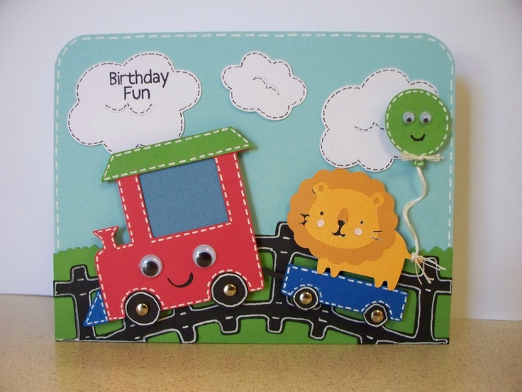 Scrappin' Navy Wife: Birthday Train Create-a-Critter card