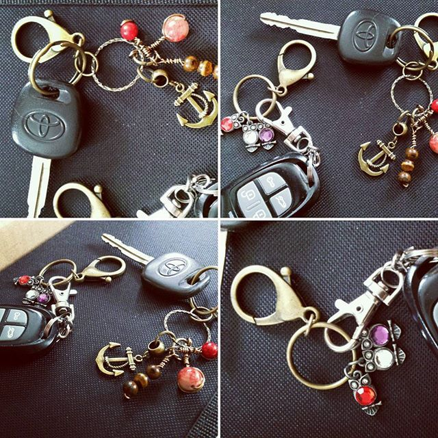 Key chain creating... trying to figure out which one I like best.  What do you think?